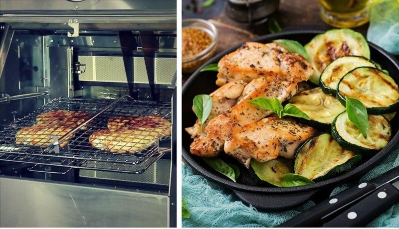 Cottura del pollo con GRILIOO